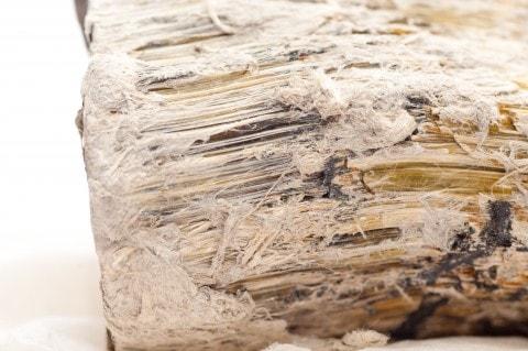 Piece of asbestos material