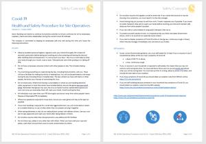 covid-19 site procedures
